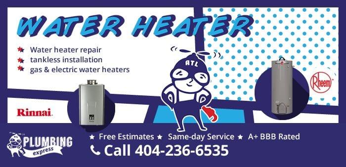 Water Heater Repair/Installation Coupon/Discount in Atlanta, GA