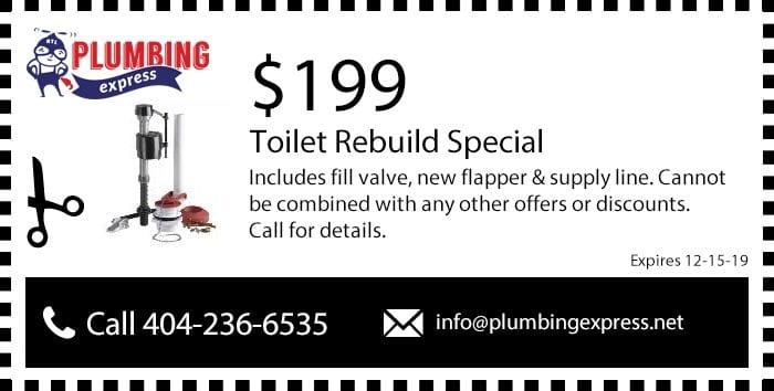Toilet Repair/Rebuild Coupon/Discount