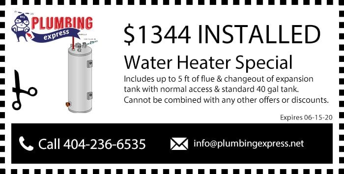 Water Heater Installation Coupon/Discount
